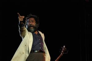 Manuel Molina en la Velada Flamenca de las Nieves. Arcos de la Frontera, agosto 2005 (foto del autor)
