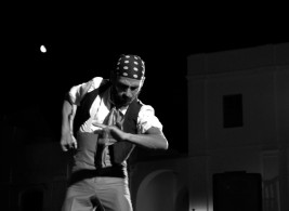 El bailaor arcense Titi Flores, muy esperado, como siempre, por su público.